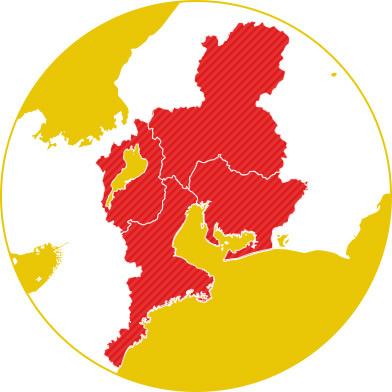 東海地方マップ